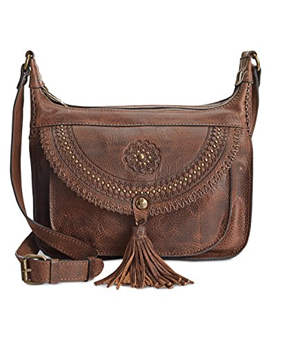 Chocolate Leather Zip Hobo Bag - 3