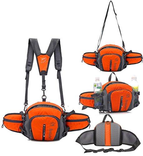 Best Waist Bag For Running Hiking - TOP-UP Multifunctional Water Resistant Outdoor Waist
