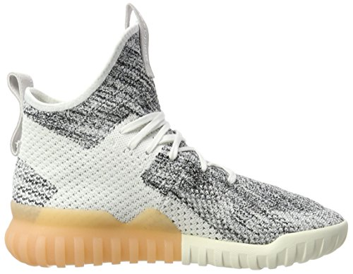 adidas Tubular X Primeknit, Scarpe da Fitness Uomo Bianco (Crystal White/Grey One/Core Black)