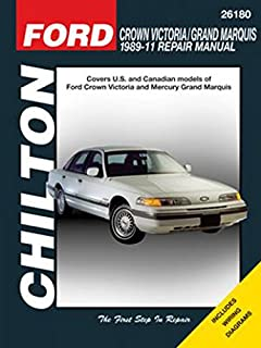 ford crown victoria and grand marquis 1989 98 chilton total car rh amazon com 98 mercury grand marquis manual 1999 Mercury Grand Marquis