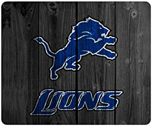Detroit lions wood background style mousepad, square mousepad Customized by the micase