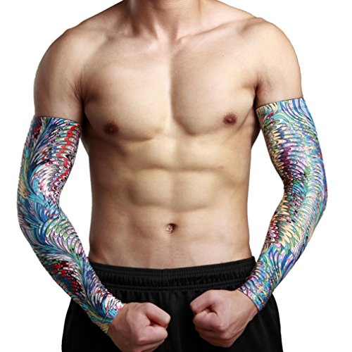Elevin(TM)Unisex Quick-dry Breathable Cycling UV Skin Protection Cooler Band Arm Warmers Cuffs Mens Arm Sleeve Cover Glove (XL, - Bikini Cycling