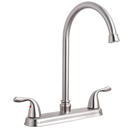 faucet with faucets easy hole and spin single comes the modern spout kitchen lever a posts rotating mgs pieces is gooseneck