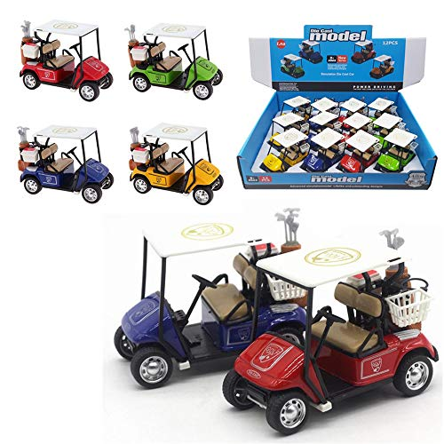 (Liberty Imports 12 Pack Die-cast Metal Golf Cart Model Toy 1:32 Scale Vehicle (4)