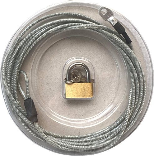 (Unique Imports Premium Car Cover Lock and Cable - Heavy Duty Cabling and Padlock)
