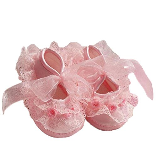 Cute Non-Slip Newborn Shoes Baby Girl Toddler Cloth Shoes With Beautiful (Cute Shoes Under 10 Dollars)