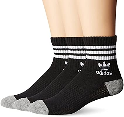 6b90fc028b62 Amazon.com  adidas Men s Originals Cushioned High Quarter Socks (3 ...