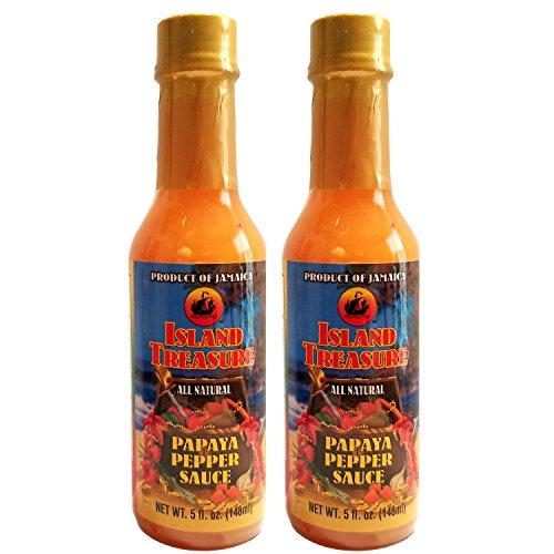 Hot Sauce Fruit (Island Treasure Papaya Pepper Sauce 5oz (Pack of 2))
