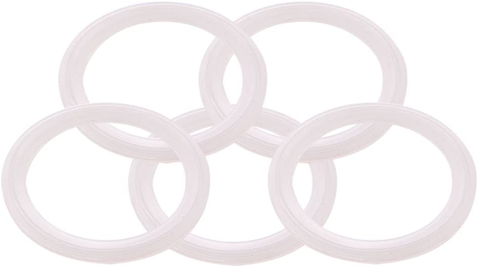 DERNORD Silicone Gasket Tri-Clover (Tri-clamp) O-Ring - 2.5 Inch (Pack of 5)