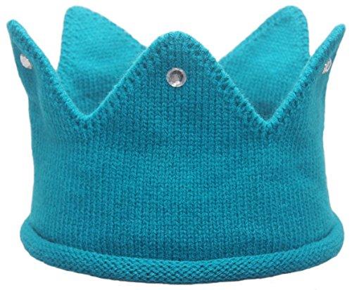 Baby Toddler Boys Girls Crown Warm Soft Birthday Knit Crochet Beanie -