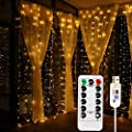 Kalokelvin Usb Curtain Lights 300 Led 9 8ftx9 8ft Waterproof 8 In 1 Mode For Home Holiday Decoration Warm White