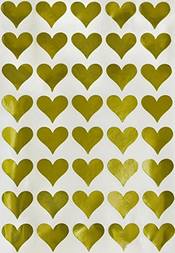 Royal Green Foil Gold Hearts Stickers for Weddings 1//2-350 Pack Party Favors 13mm Decoration in 0.5 inch