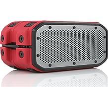 Braven BRV1MRBG BRV-1M Series Waterproof Bluetooth Speaker, Red