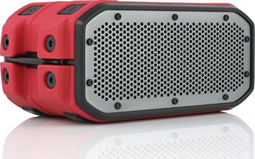 BRAVEN BRV-1M Portable Wireless Bluetooth Speaker 12 Hours Waterproof Built-in 2200 mAh Power Bank Charger – Red Black