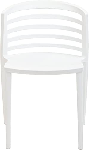 Modway Curvy Contemporary Modern Molded Plastic Two Dining Chair