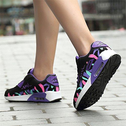 Outdoor Bluelover Respirabile Ammortizzatore Aria Donna Casuali Sneakers Scarpe Assorbimento Rosa 39 RqOqw