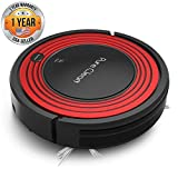 Pure Clean Automatic Robot Vacuum - Programmable Cleaner Robotic Auto Home for Clean Carpet Hardwood Floor w/ Self Activation and Charge Dock - HEPA Pet Hair & Allergies Friendly - PUCRC95