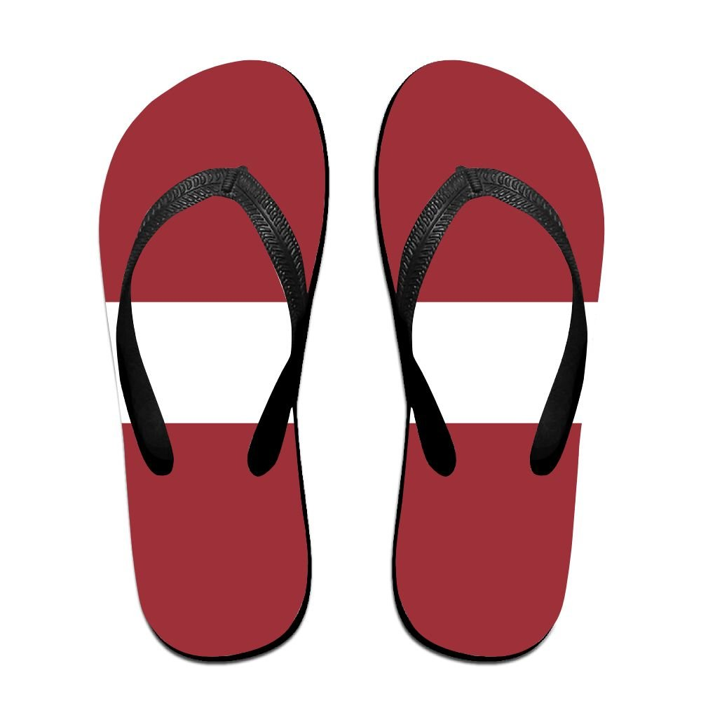 Latvian Flag Comfortable Flip Flops For Children Adults Men And Women Beach Sandals Pool Party Slippers