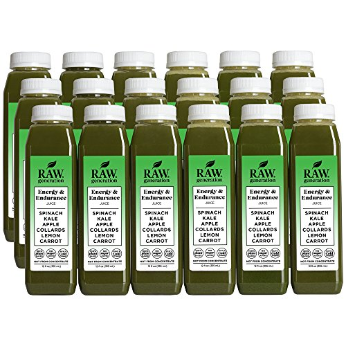 Raw Generation Energy & Endurance Juice - High Protein Green Juice / Healthiest Way to Lose Weight & Stay Strong / 18 Count by RAW generation