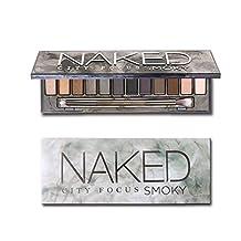 ThinkMax Women Fashion 12 Colors Smoky Nude Makeup Cosmetics Eyeshadow Palette Beauty Tools