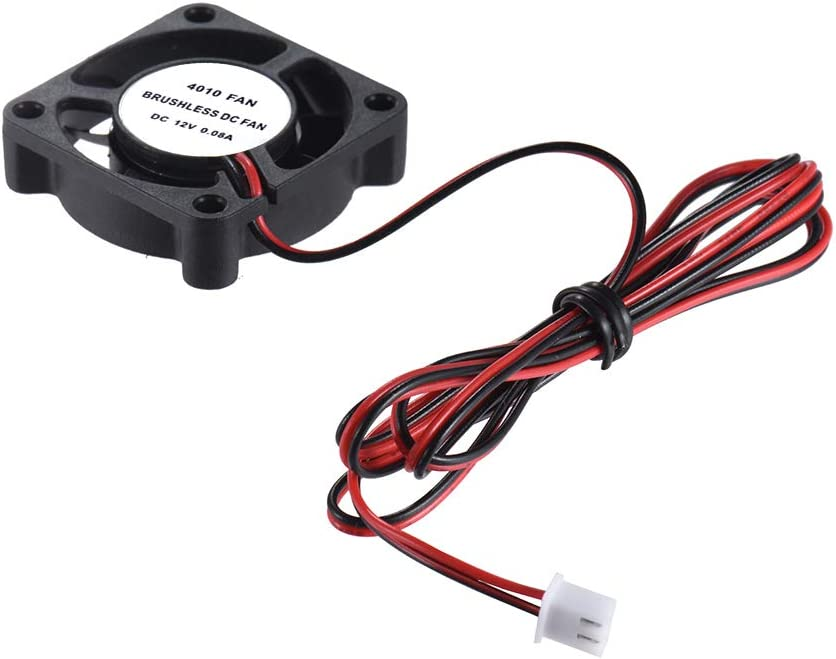 KKmoon Anet 40 40 10mm DC 12V Brushless Cooling Cooler Fan 2 Wire for RepRap i3 DIY 3D Printer