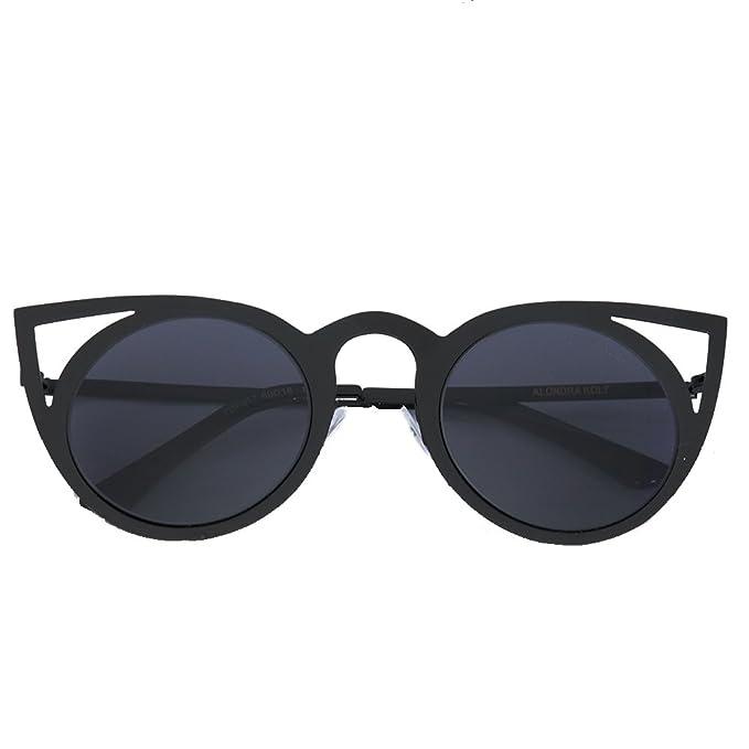 cb15f2398ed Amazon.com  Alondra Kolt The Neena Cat Eye Sunglasses (Black