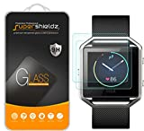 [2-Pack] Supershieldz for Fitbit Blaze Tempered Glass Screen Protector, (Full Screen Coverage) Anti-Scratch, Anti-Fingerprint, Bubble Free, Lifetime Replacement Warranty