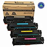 V4INK ® Compatible Replacement for HP CF210X CF211A CF212A CF213A/131X Toner Cartridge for HP LaserJet Pro M251nw MFP M276nw 200 color Printers (4Pack Black Cyan Magenta Yellow)