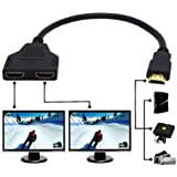 1080P HDMI Port HDMI Splitter Cable 1 Male to Dual HDMI 2 Female Splitter Cable Adapter Converter for DVD Players PS3 HDTV STB and Most LCD Projectors