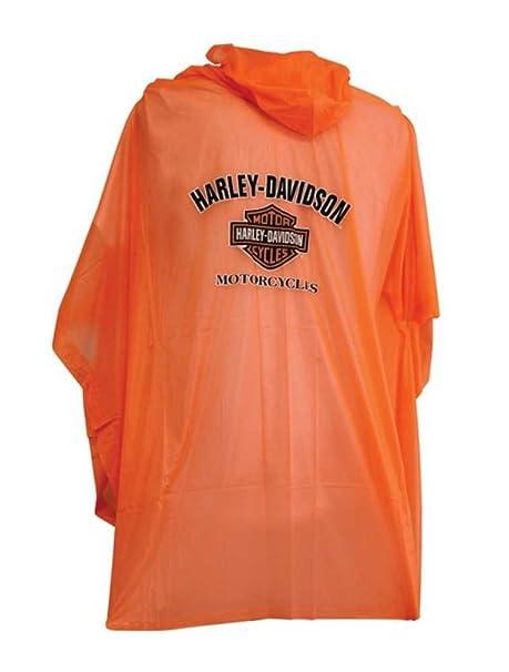 Harley-Davidson B y S Unisex Impermeable Poncho de Lluvia W ...