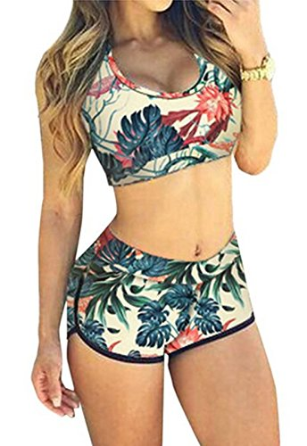 Rapidev Women Bandage Sporty Bathing Suit Boyleg Short Swimwear Swimsuit (Medium, - For Bathing Suits Sporty Women