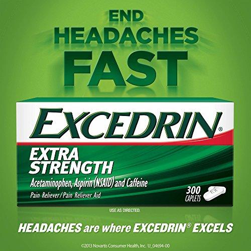 Excedrin Extra Strength Caplets for Headache Pain Relief (300 Count) iiiIII ()