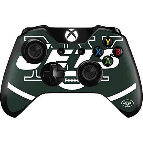 Skinit New York Jets Large Logo Xbox One Controller Skin - Officially Licensed NFL Gaming Decal - Ultra Thin, Lightweight Vinyl Decal -