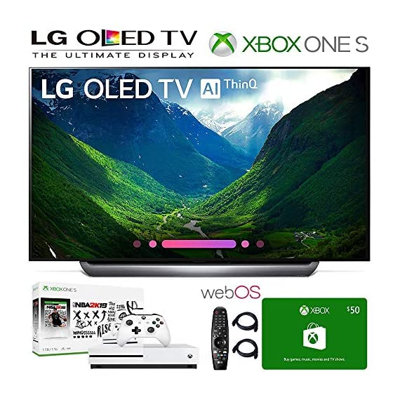 lg electronics oled77c8pua 77-inch 4k ultra hd smart oled tv (2018 model), xbox one s nba 2k19 bundle, 50 xbox gift card, 2hdmi cables. authorized lg dealer. - 517N1Vkkc L - LG Electronics OLED77C8PUA 77-Inch 4K Ultra HD Smart OLED TV (2018 Model), Xbox One S NBA 2K19 Bundle, 50 Xbox Gift Card, 2HDMI Cables. Authorized LG Dealer.