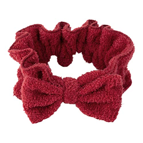 (RingBuu - Hair Band, Sweet Girls, Cute Bowknot, Wide Headband, Agaric Ruffled Trim, Stretchy Hairband, Women, Makeup, Sports, Yoga, Thicken Headwrap )