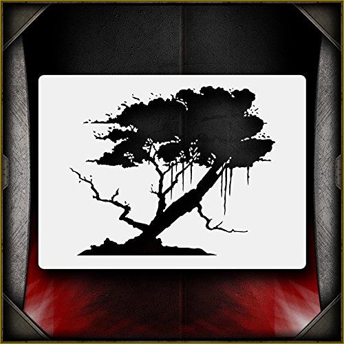 Oak Tree 2 AirSick Airbrush Stencil Template