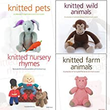 Sarah Keen 4 books collection Set (Knitted Wild Animals, Pets,Animals,Nursery Rhymes)