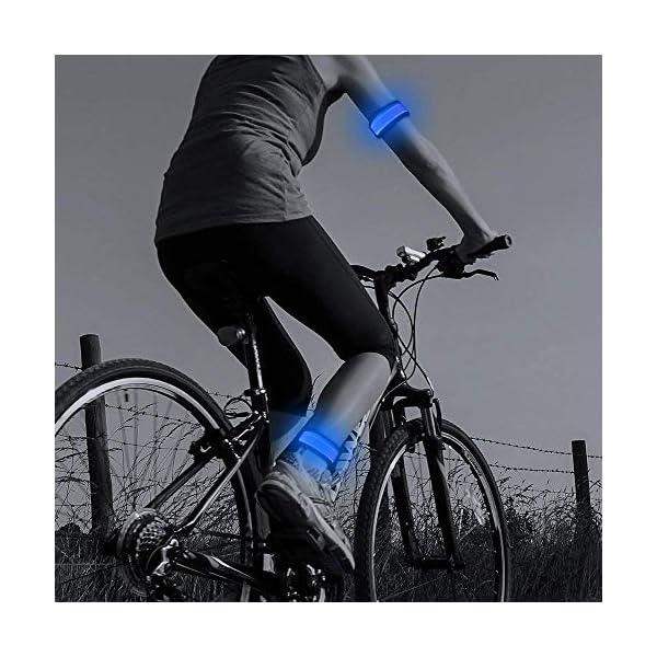 2ed Generation Heat Sealed Glow in The Dark LED Slap Bracelet Cycling Light Up Sports Event Wristband for Running Jogging Higo LED Armband Hiking