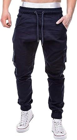 ShallGood Pantalón para Hombre Cargo Slim Jogging Casual Chino ...