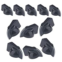 Musiclily Plastic Pull on Amp Big Chicken Head Control Knobs for Electric Effect Pedal Guitar Parts, Black(Pack of 12)