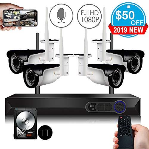 CCTV Surveillance Security System Wireless 4CH 1080P WiFi NVR