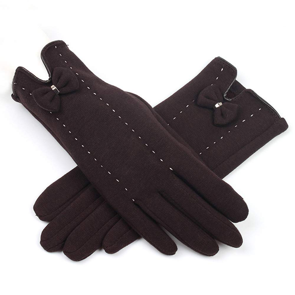 LBYMYB Outdoor Not Velvet Winter Plus Velvet Thick Warm Gloves Touch Screen Cute Five-Finger Gloves Glove (Color : Gray)