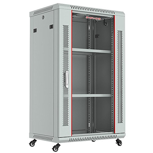 SYSMATRIX 18u 24in Depth Wall Mount Server Rack Cabinet (24