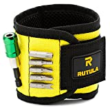 RUTULA magnetic wristband, Band tool holder with 5 magnets, 3rd helping hand, Gift for him: men, husband, father/dad, boyfriend, handyman, guys etc.