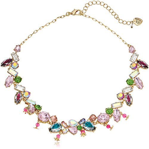 Betsey Johnson Mixed Stone Collar Necklace, 16