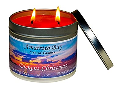 Amaretto Bay Soy Wax Scented Candles 16 oz Aromatherapy Travel Tin