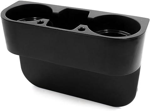 uxcell Universal Car Cup Holder Seat Seam Wedge Mount Stand Storage Organizer Drink Holder Black a17080200ux0014