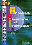 Applications bureautiques et informatiques BTS Assistant PME-PMI