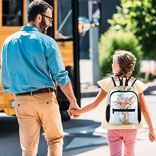 漫画鹿花クラウン幼児就学前のバックパック本袋ミニショルダーバッグリュックサック通学用1-6年旅行男の子女の子