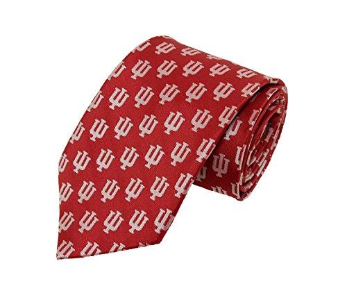 NCAA Men's Indiana Hoosiers Multi Logo Necktie, Cream/Crimson